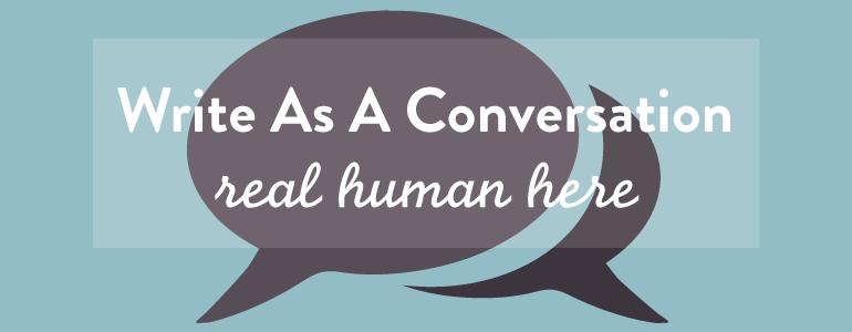 write as a conversation
