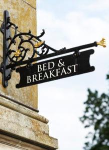 bed breakfast social media