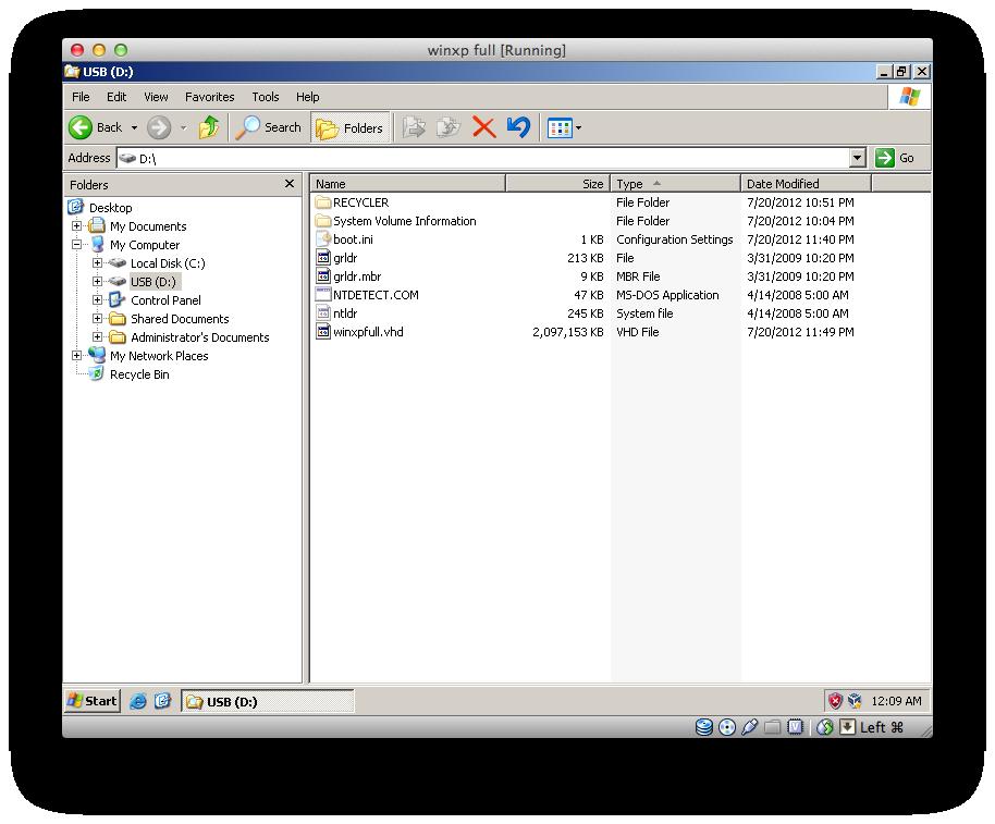install windows xp to flash drive