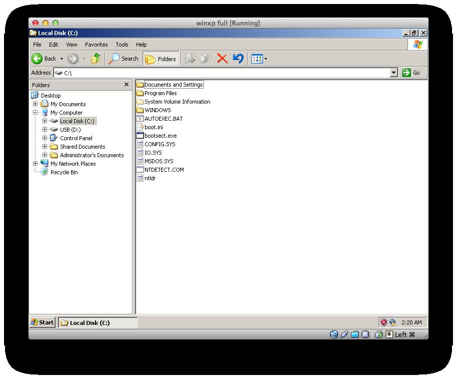 install windows xp on flash drive