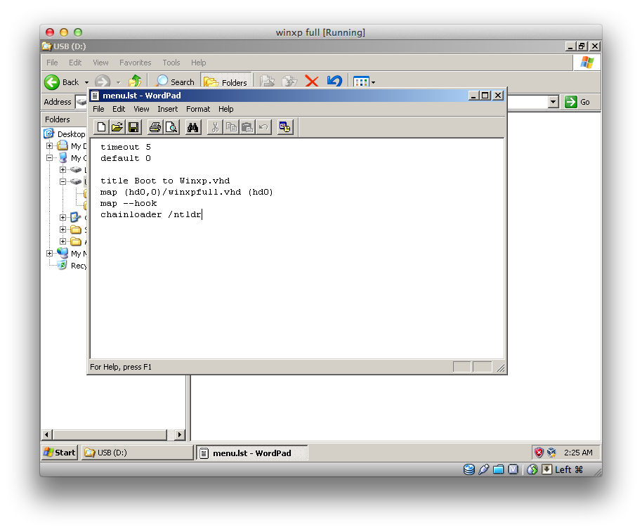 install windows xp on usb drive