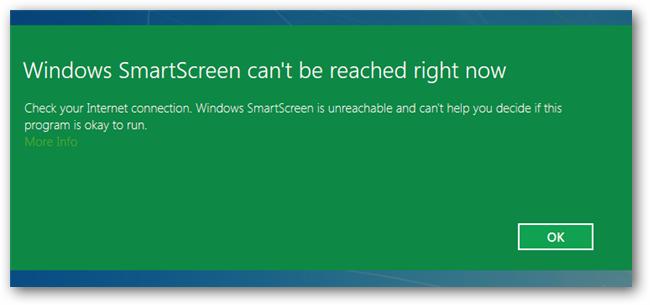 turn off smartscreen filter windows 8